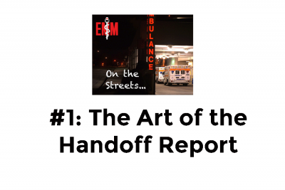 the art of the handoff report
